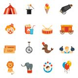 Circus Icon Flat Stock Image