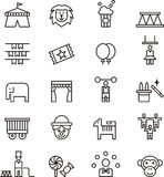 Circus icons. A collection of circus icons illustrations Stock Photos