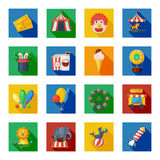 Circus icons flat Royalty Free Stock Image