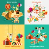 Circus icons flat set Stock Photography