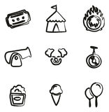 Circus Icons Freehand Royalty Free Stock Photography