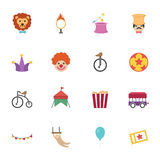 Circus Icons  Stock Photography