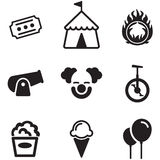 Circus Icons Royalty Free Stock Photo