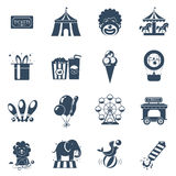 Circus icons set Royalty Free Stock Photos