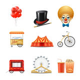 Circus Icons Set Royalty Free Stock Photo