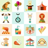 Circus icons set Stock Image