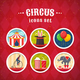 Circus icons set Royalty Free Stock Image