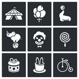 Circus Icons set Royalty Free Stock Images