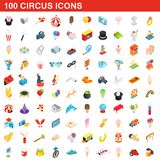 100 circus icons set, isometric 3d style. 100 circus icons set in isometric 3d style for any design illustration royalty free illustration
