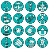 Circus icons set line Royalty Free Stock Image