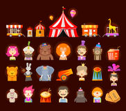 Circus icons set. vector illustration Royalty Free Stock Photos