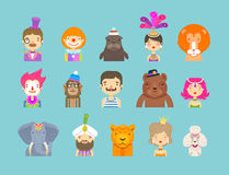 Circus icons set. vector illustration Royalty Free Stock Photography