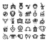 Circus icons set. vector illustration Royalty Free Stock Image
