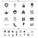 Circus icons vector Stock Image