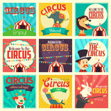 Circus icons Stock Photo