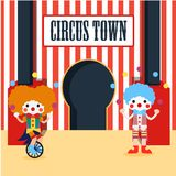 Circus Illustration Vector Art Logo Template and Illustration. Simple and unique for circus Illustration vector various purposes, for best use Stock Photos