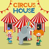 Circus Illustration Vector Art Logo Template and Illustration. Simple and unique for circus Illustration  various purposes, for best use Stock Images