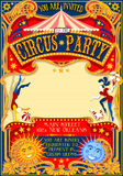 Circus 01 Invitation Vintage 2D Stock Photos