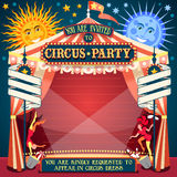 Circus 02 Invitation Vintage 2D Stock Images