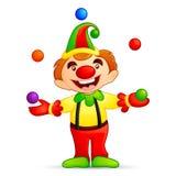 Circus Joker. Vector illustration of circus joker juggling with ball Royalty Free Stock Photography