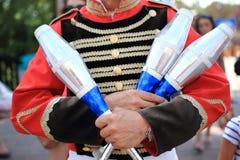 Circus jugglers Stock Photos