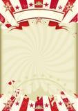 Circus kraft sunbeams poster Stock Image