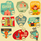 Circus Labels Set Royalty Free Stock Images