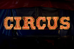 Circus lettering Royalty Free Stock Image