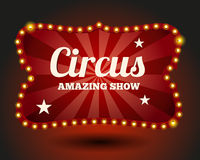 Circus lightbulb border Stock Photos