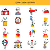 Circus Line Icons Set Royalty Free Stock Images