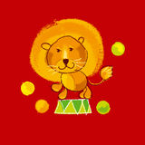 Circus lion Royalty Free Stock Images