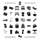 Circus, magic, plumbing and other web icon in black style.medicine, equipment icons in set collection. Stock Images
