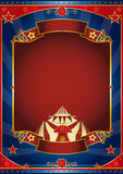 Circus magic red frame Stock Photo