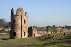 Circus of Maxentius. The Circus of Maxentius (known until the 19th century as the Circus of Caracalla) is an ancient structure in Rome, Italy Stock Image
