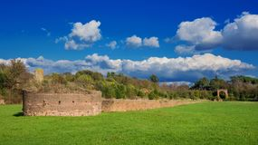 Circus of Maxentius ruins stock photography