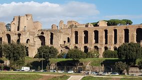 Circus Maximus, historic site, ancient rome, medieval architecture, ancient history. Circus Maximus is historic site, ancient history and building. That marvel stock image