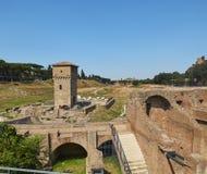 Circus Maximus in Palatine heuvel van Rome Lazio, Italië Royalty-vrije Stock Foto's