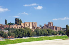 The Circus Maximus and Paltine Hill Royalty Free Stock Images