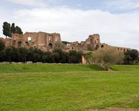 Circus Maximus, Rome, Italy. With the ruins of the imperial palace on the palpatine hill in the background Stock Image