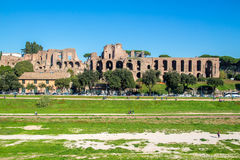 Circus Maximus and ruins of Palatine hill, in Rome, Italy Stock Photography