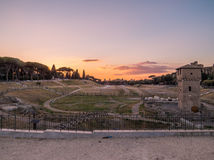 Circus Maximus at sunset, Rome royalty free stock images