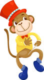 Circus monkey vector Royalty Free Stock Photography