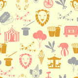 Circus naadloos patroon Royalty-vrije Stock Fotografie