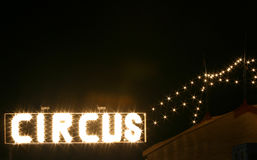 Circus at night. Circus sign at night royalty free stock photo