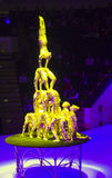 Circus number. Circus acrobats performing a number Stock Image