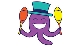 Circus Octopus Royalty Free Stock Image