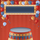 Circus Party. Background with copy space Stock Images