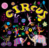 Circus. Party. Shows limited! Stock Photography