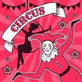 Circus performance advertisement stock illustration