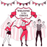 Circus performance advertisement Royalty Free Stock Photography